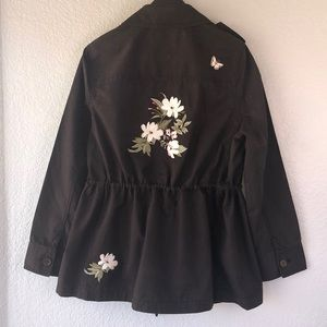 NWT Kate Spade Floral Army Jacket
